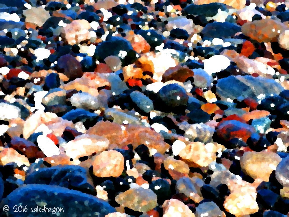 pebble abstract from Carleon Cove