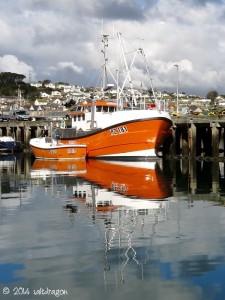 Fishing boat Mayflower in Newlyn harbour in Cornwall