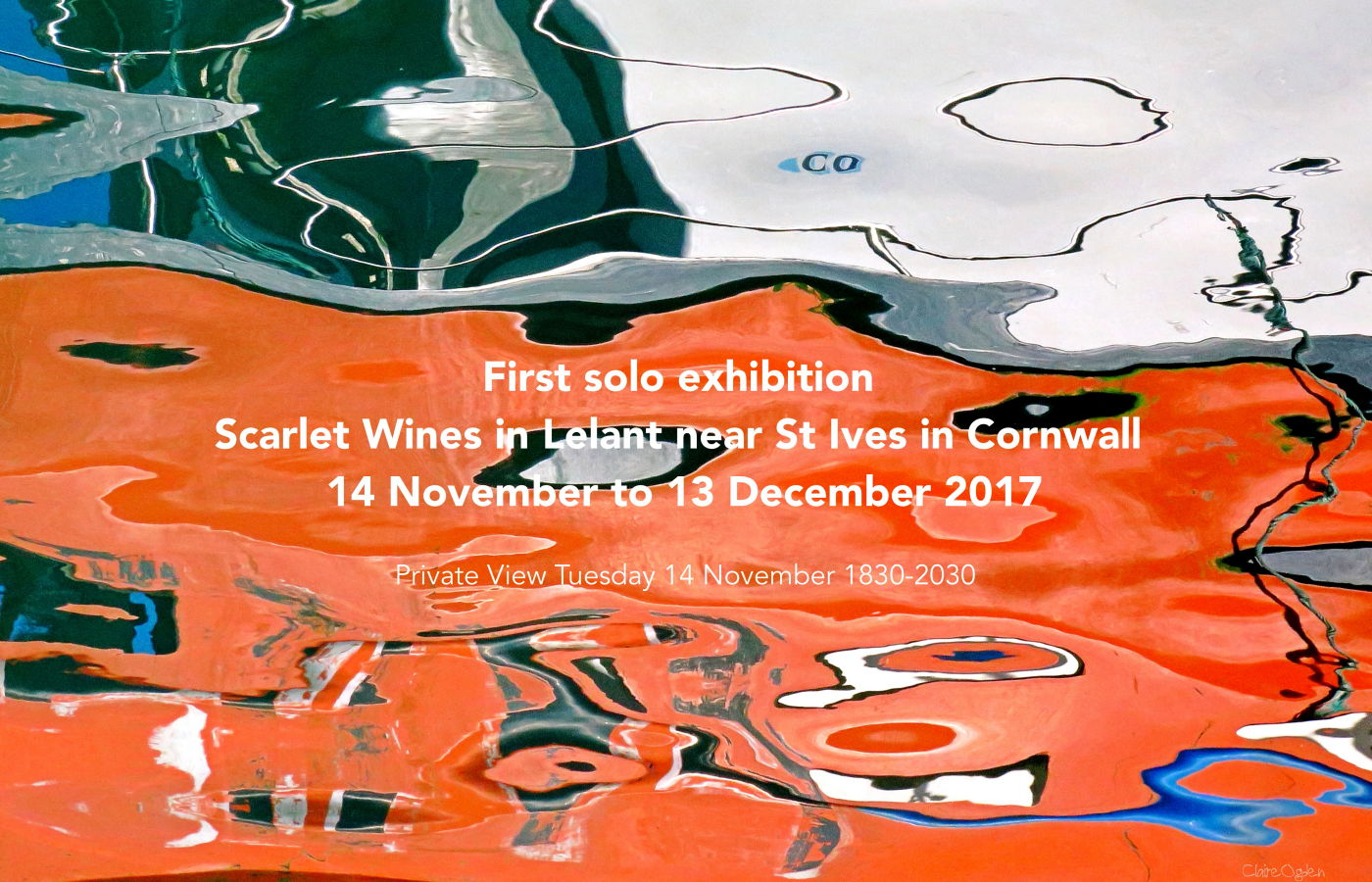 solo exhibition at Scarlet Wines in 2017
